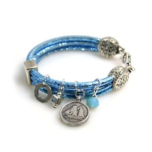 Náramek Coin, modrý