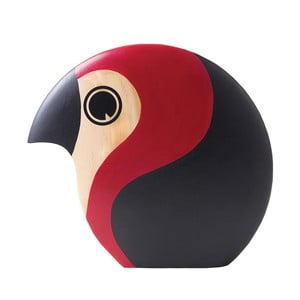 Decorațiune în formă de pasăre cu detalii roșii Architectmade Discus