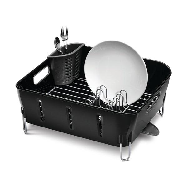 Černý odkapávač na nádobí simplehuman Siro