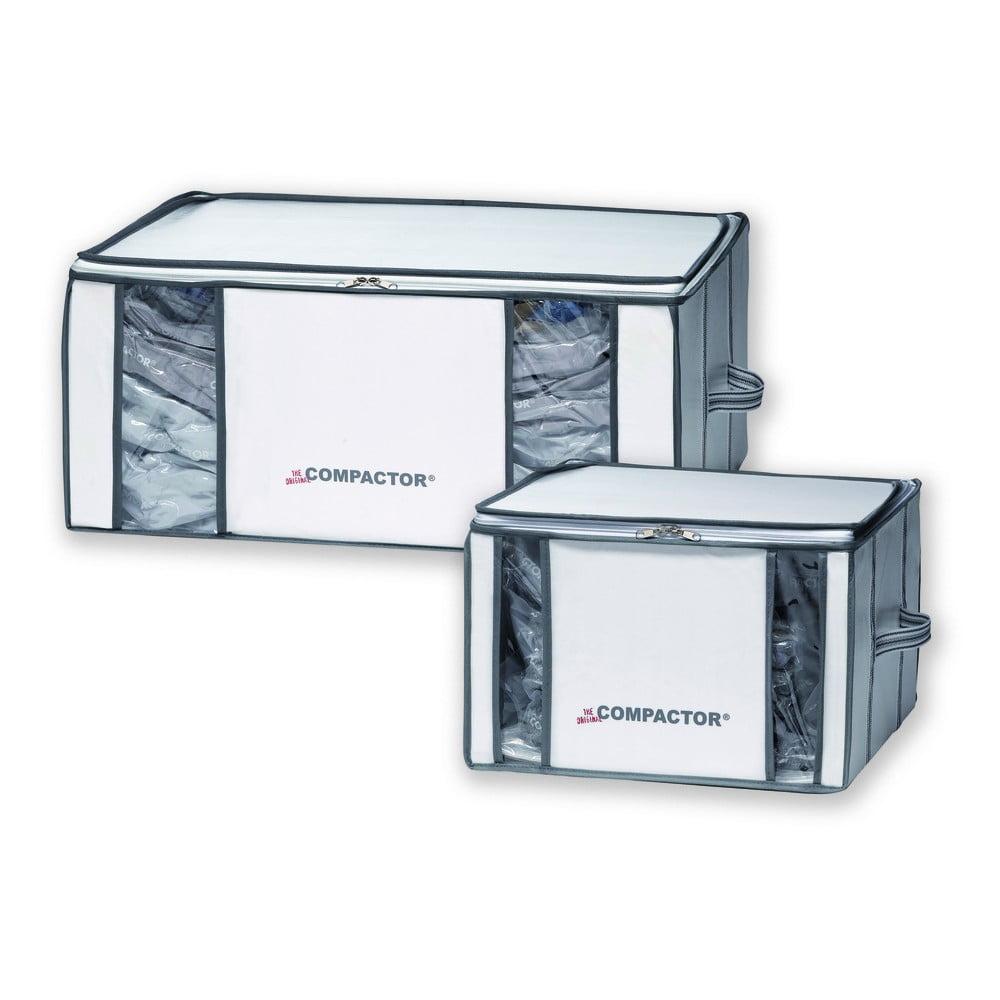 Sada 2 vakuových úložných boxů na oblečení Compactor Life 3D Vacuum Bag