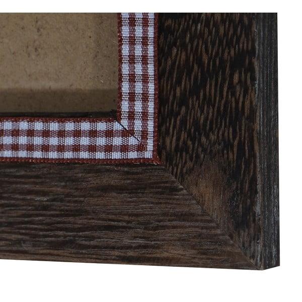 Hnědý dřevěný rám na fotografie Mendler Shabby, 21x26cm