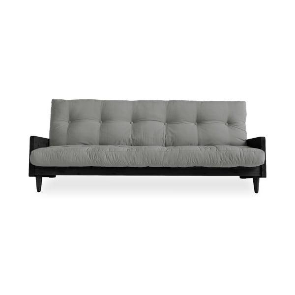 Indie Black/Grey kinyitható kanapé - Karup Design