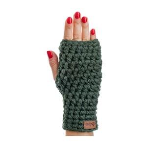 Olivově zelené ručně háčkované návleky DOKE Dina