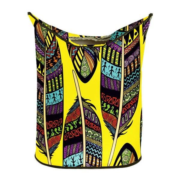 Koš na prádlo Yellow Indie
