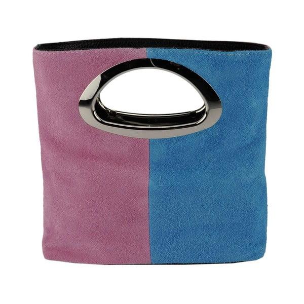 Kožená kabelka Pamela Pink & Light Blue