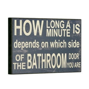 Cedule How long a minute is, 16x25 cm
