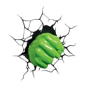 Dětské 3D světlo na zeď Hulkova pěst