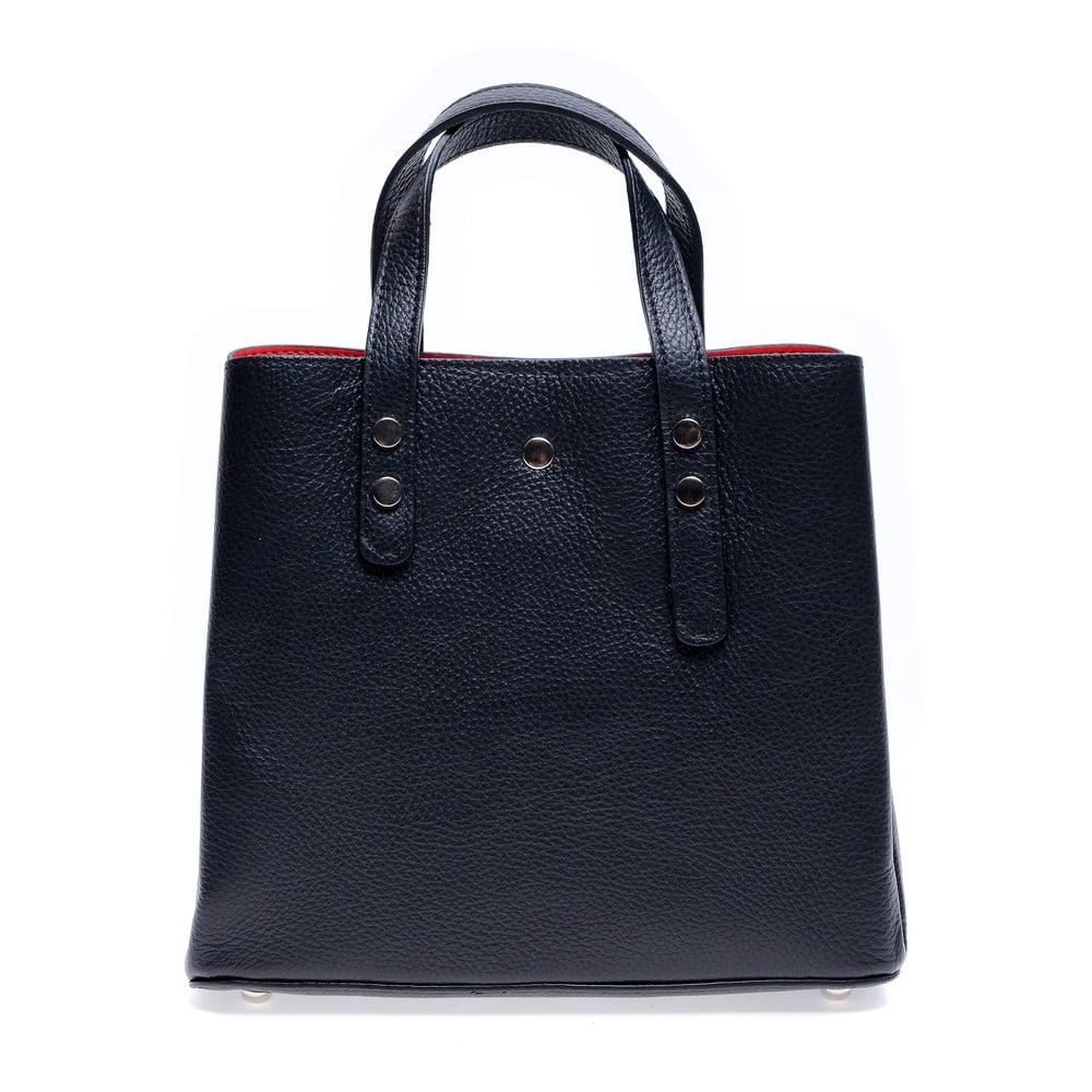 Černá kožená kabelka Roberta M Galilea