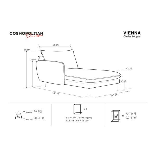 Šedá lenoška s područkou na pravé straně Cosmopolitan Design Vienna