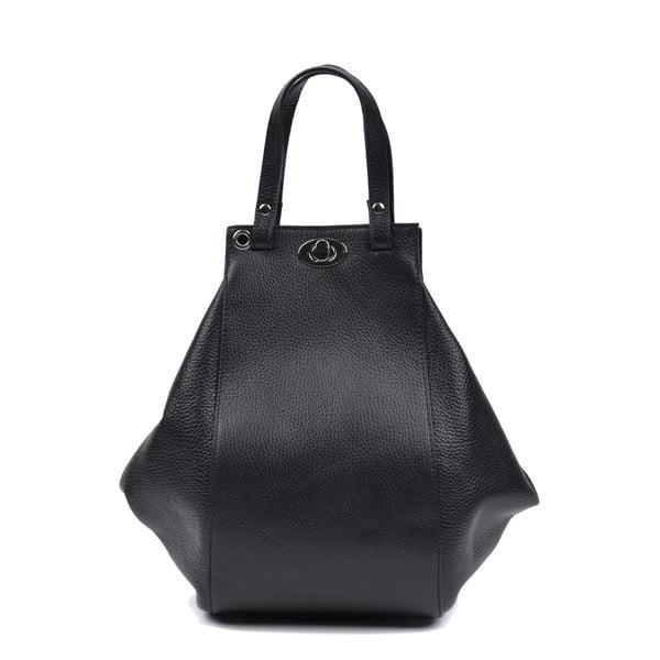 Černá kožená kabelka Anna Luchini Mirado