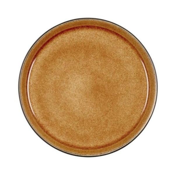Okrově žlutý kameninový dezertní talíř Bitz Mensa, průměr 21 cm