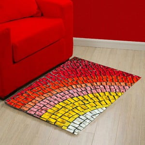 Covor din vinilin Mozaic, 52x75 cm