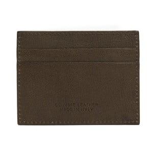 Hnědá pánská kožená peněženka na bankovky a karty Billionaire, 8 x 10 cm