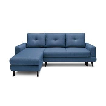 Canapea extensibilă cu șezlong pe partea stângă Bobochic Paris Calanque, albastru închis de la Bobochic Paris