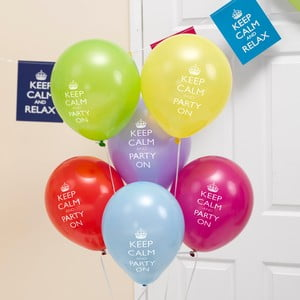 Sada 8 nafukovacích balónků Neviti Keep Calm