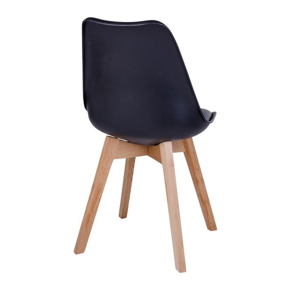 Set 2 scaune House Nordic Molde, negru