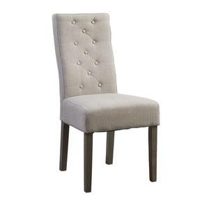 Béžová židle s tmavými nohami Canett Tango