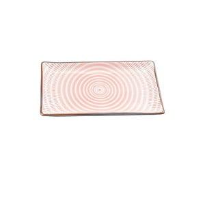 Porcelánový talíř Pink Stripe, 21.6 cm