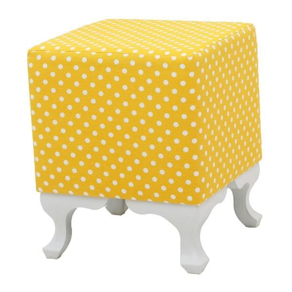 Žlutá taburetka Squarie