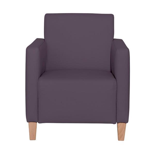Fialové křeslo Max Winzer Milla Leather Violet