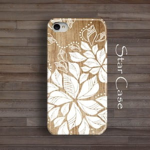 Obal na iPhone 4/4S White Floral