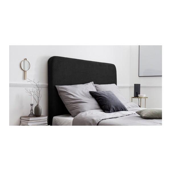 Černé čalouněné čelo postele THE CLASSIC LIVING Emma, 180x120cm