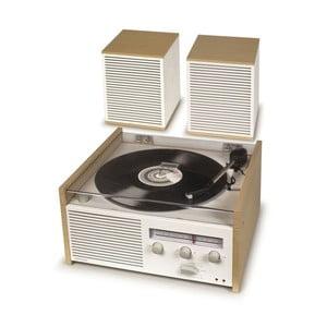 Bílo-béžový gramofon Crosley Switch II Natural