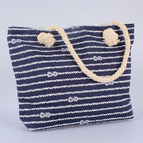 Geantă din material textil Dakls Rope, albastru-alb