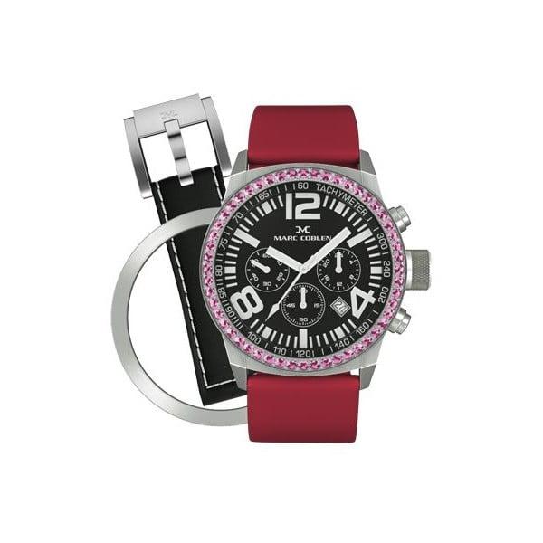 Dámské hodinky Marc Coblen s páskem a kroužkem navíc P3