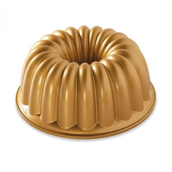 Formă pentru guguluf Nordic Ware Elegant Party, 2,4 l, auriu