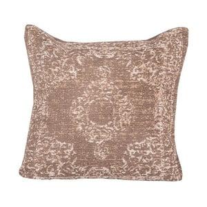 Hnědý bavlněný polštář LABEL51 Vintage