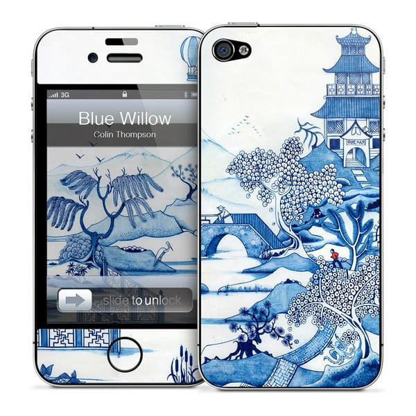 Samolepka na iPhone 4/4S, Blue Willow