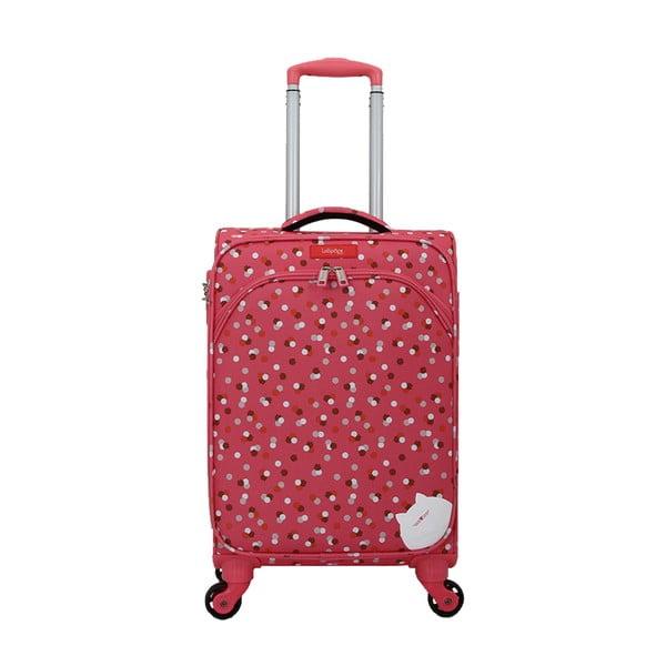 Ružový kufor na 4 kolieskach Lollipops Rubbi