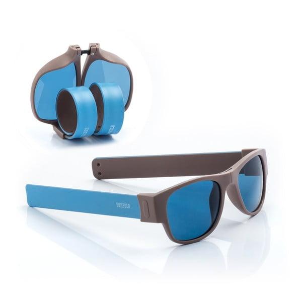 Modré sluneční srolovatelné brýle InnovaGoods Sunfold AC3