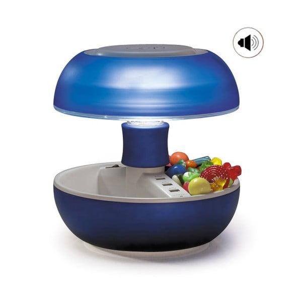 Stolní lampa, nabíječka a reprák v jednom Joyo Light, modrá