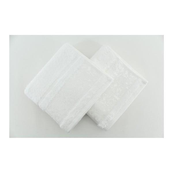 Sada 2 osušek Pandora White, 50x90 cm