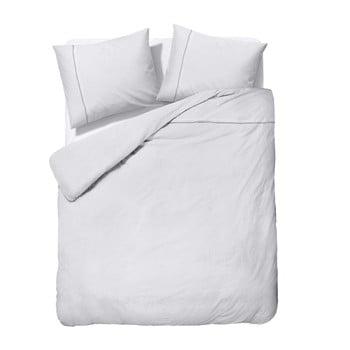 Lenjerie de pat dublu, din micropercal Sleeptime Zensation Monte Carlo, 200 x 220 cm, alb de la Zensation