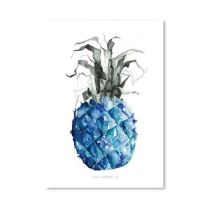 Plakát Pineapple Blue, 30x42 cm