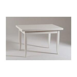 Bílý rozkládací dřevěný jídelní stůl Castagnetti Piatto, 120cm