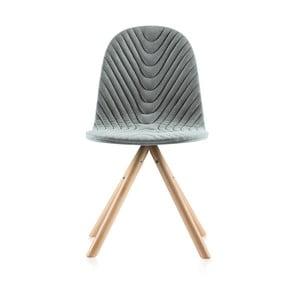Šedá židle s přírodními nohami IkerMannequinWave