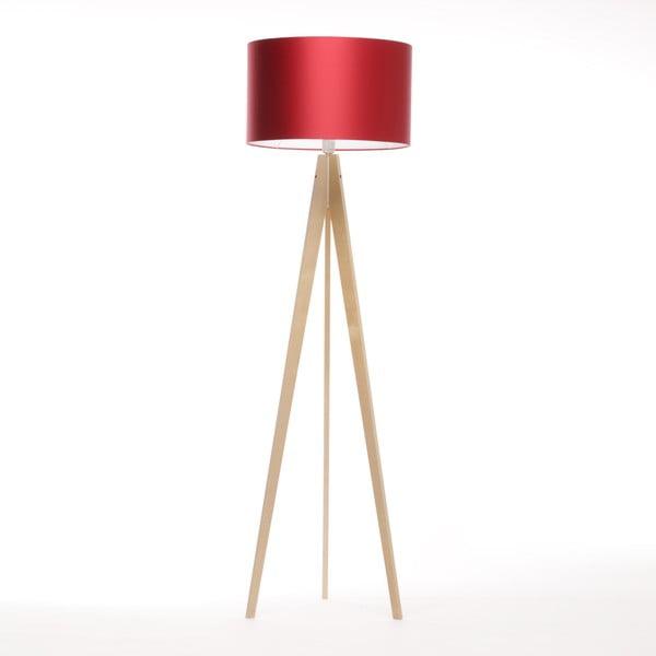 Stojací lampa Artista Birch/Red, 125x42 cm