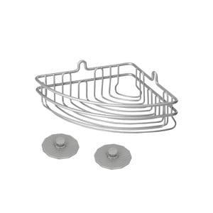 Koupelnový rohový košík Metaltex Frost, 19 x 10 cm