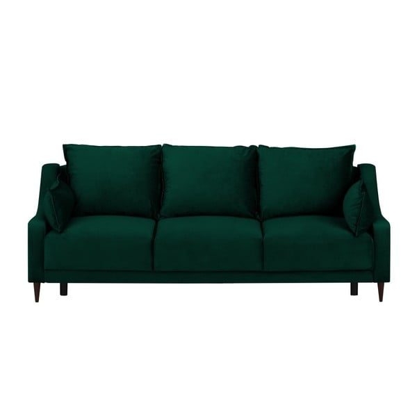Zelená trojmiestna rozkladacia pohovka Mazzini Sofas Freesia