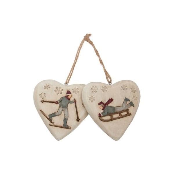 Závěsná dekorace Winter Hearts