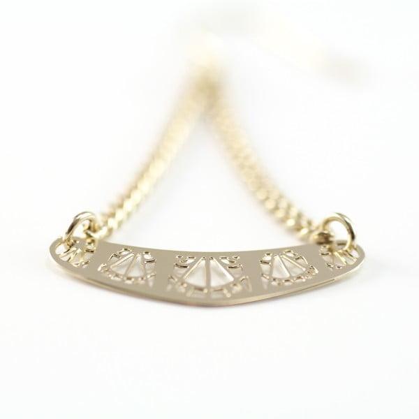 Náušnice Arch Gold, 4.5 cm