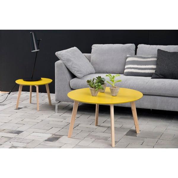Žlutý odkládací stolek Actona Molina, ⌀50cm