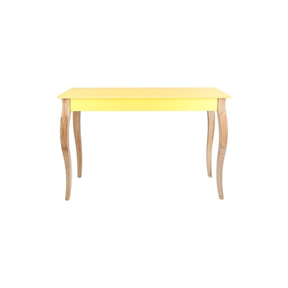 Žlutý odkládací konzolový stolek Ragaba Dressing Table, 105 x 74 cm