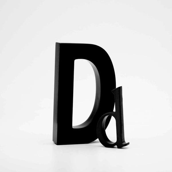"""Velké """"D"""" 13x8 cm, černá"""