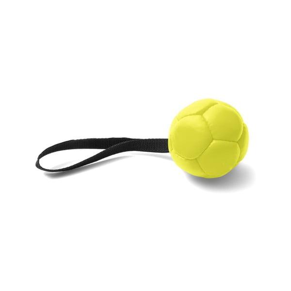 Žlutá ručně vyrobená hračka pro psy z přírodní kůže Marendog Ball, ⌀ 10 cm