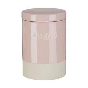 Růžová kameninová dóza na cukr Premier Housewares, 616 ml